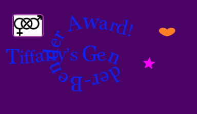 Gender Bender Award Graphic